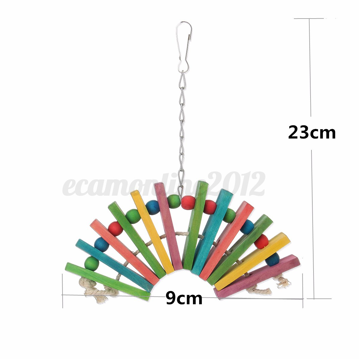 Parrot-Swing-Hanging-Bird-Toy-Nest-Bed-Rope-Cage-Bell-Parakeet-Cockatiel-Budgie thumbnail 22