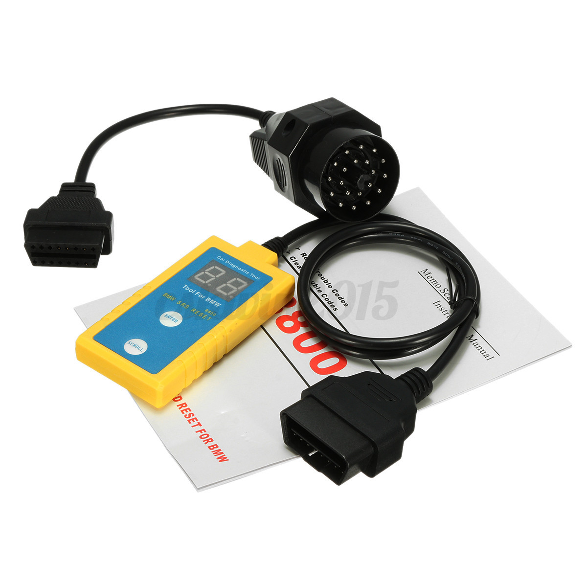 Car Airbag Scanner Reset Tool Srs Trouble Codes Reader