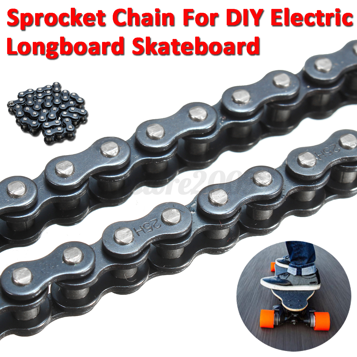 Sprocket Chain For Electric Longboard 8044 Skateboard DIY Replacement Parts New  eBay