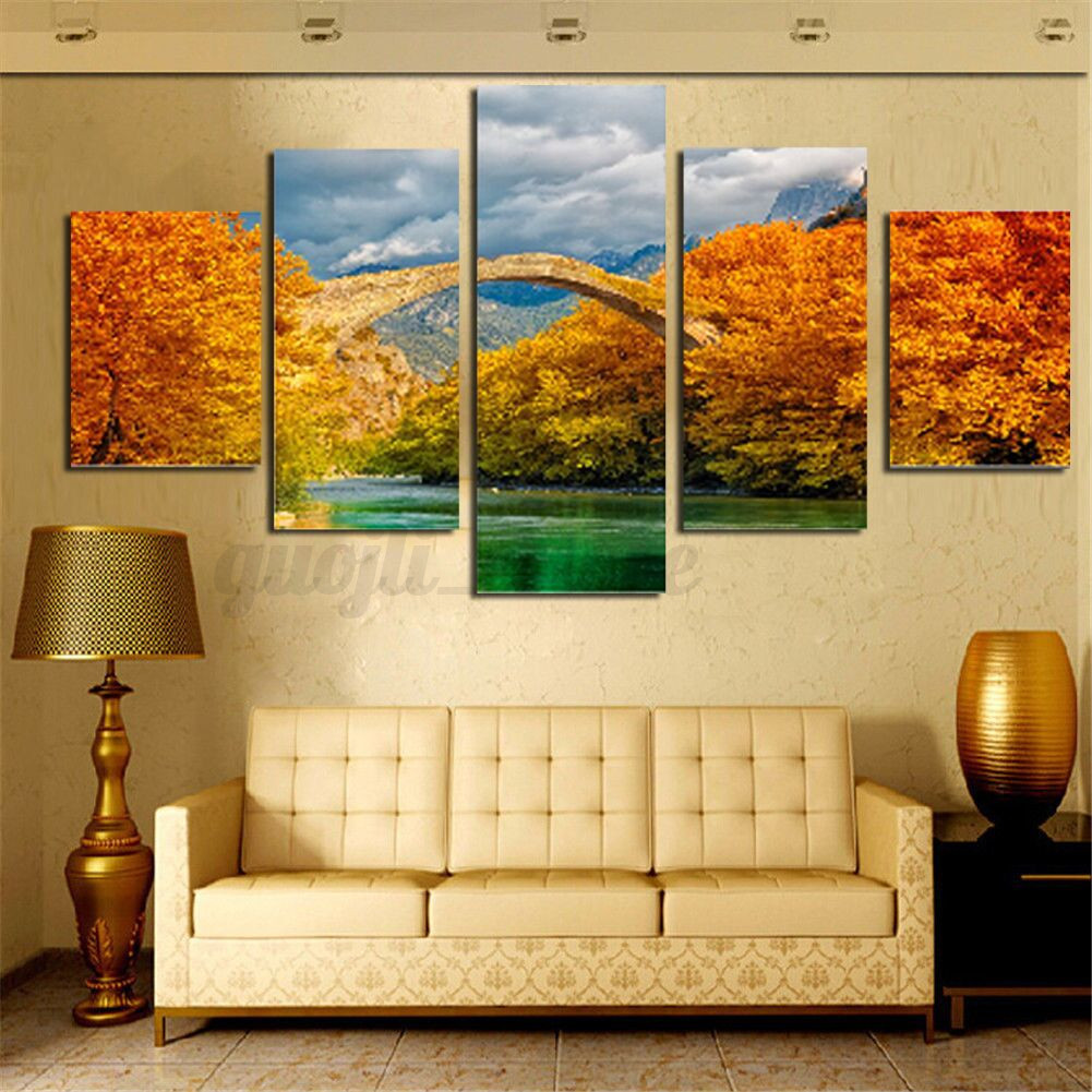 Large Picture Modern Abstract Canvas Oil Painting Print Home Room ...