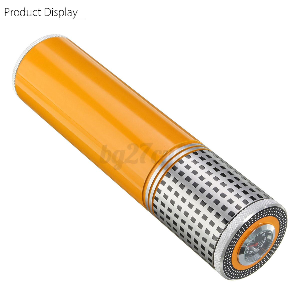 Humidor Humidifier Hydrating Travel Storage Tube W/ Hygrometer AU #C67505