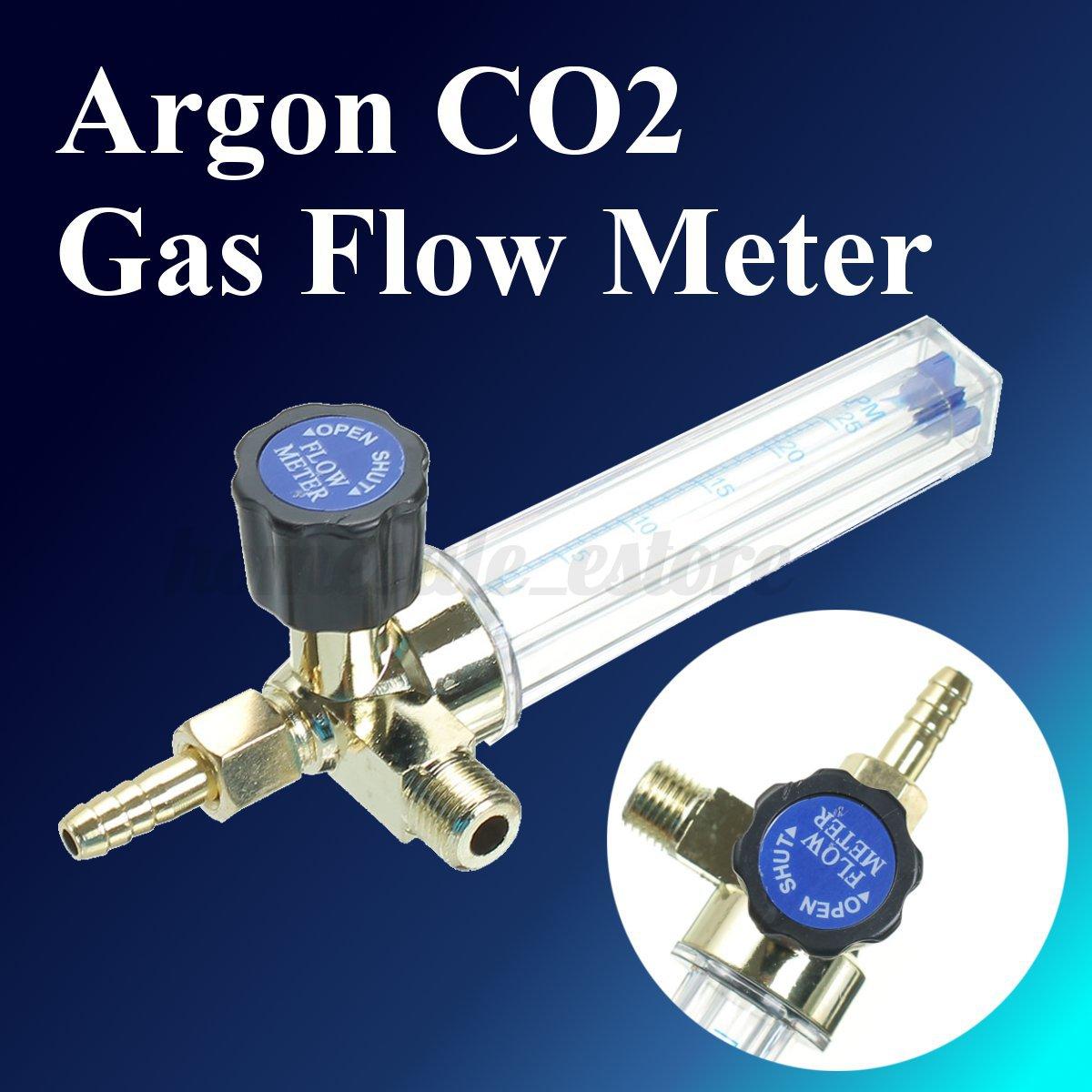 1//4PT 0.15MPA 7mm 1-25 L//M Argon CO2 Gas Barb Flow Meter Welding Regulator Gauge