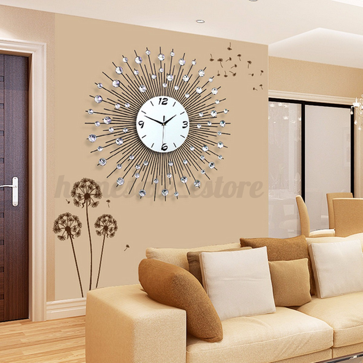 60x60cm Modern Luxury Large Art Living Room Round Diamond
