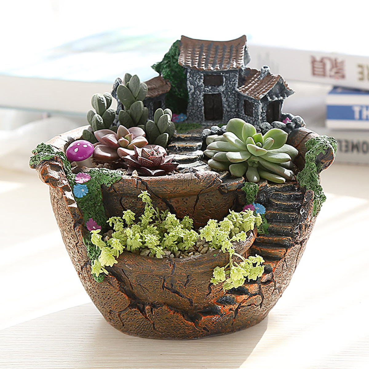 Sky Garden Planter Herb Flower Cactus Succulent Clay Pot