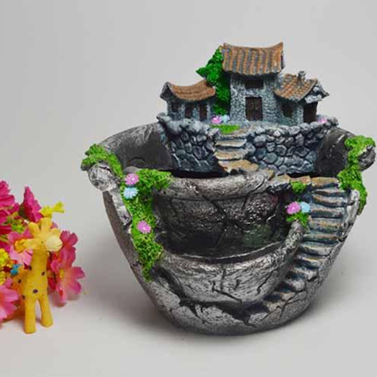sky garden planter herb flower cactus succulent clay pot basket box case decor ebay. Black Bedroom Furniture Sets. Home Design Ideas
