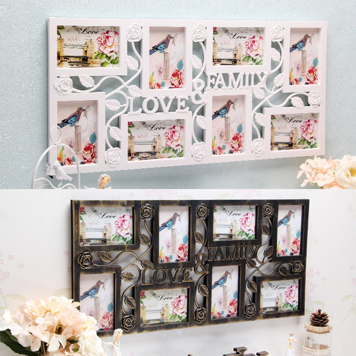 Multi Photoframe Family Love Picture Wall Photo Frames Gift Wedding ...
