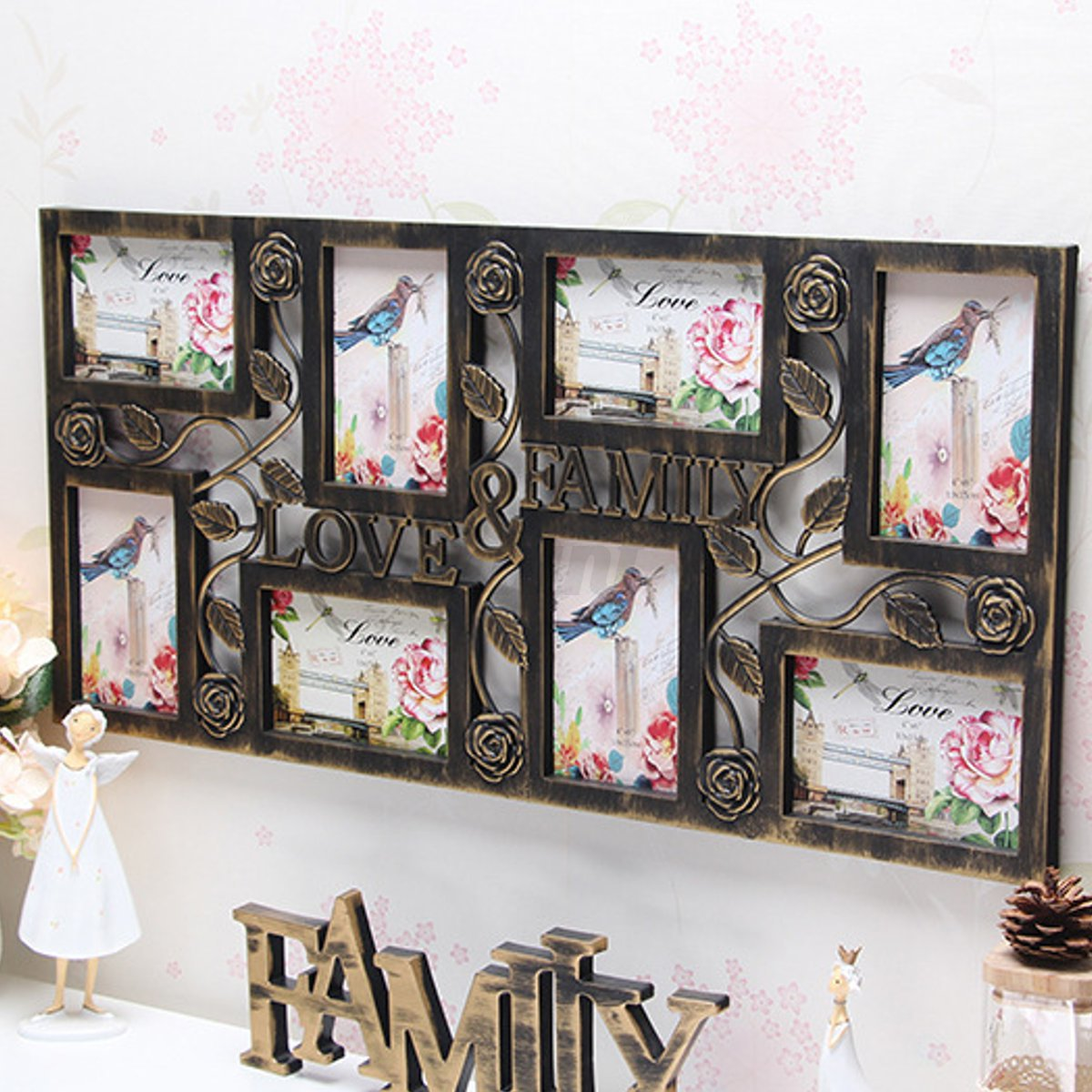 7 Patterm Photo Frames Hanging Family Love Collage Picture Aperture ...