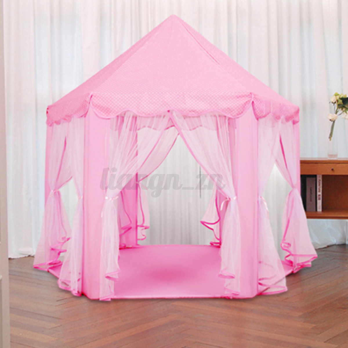 princesse fille tente de ch teau jeu tipi cabane jouet jeux guirlande lampe led ebay. Black Bedroom Furniture Sets. Home Design Ideas