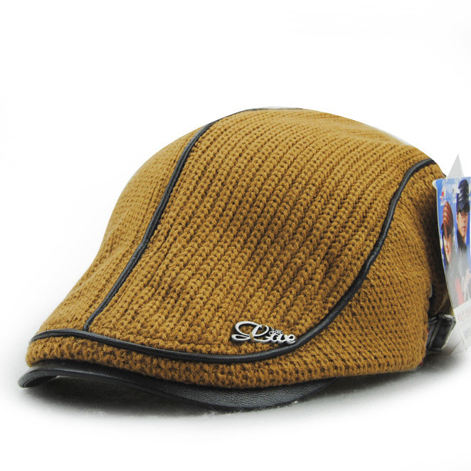 Buckle Hats: Unisex Knitted Wool Beret Hats Knitting Buckle Paper Boy