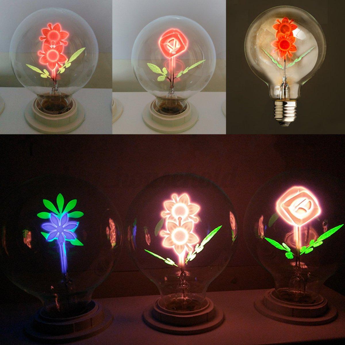 Retro LED Glühbirne Tropfen Rose Kugel E27 Leuchtmittel 3W 240V ...