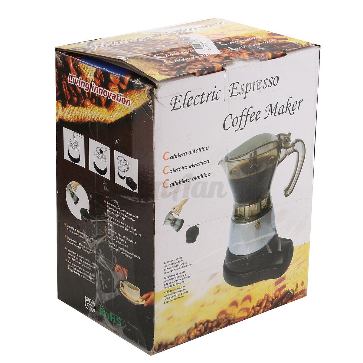 Coffee Maker Home Automatic Handmade Stainless Steel 4-Cup Coffeemaker Machine eBay