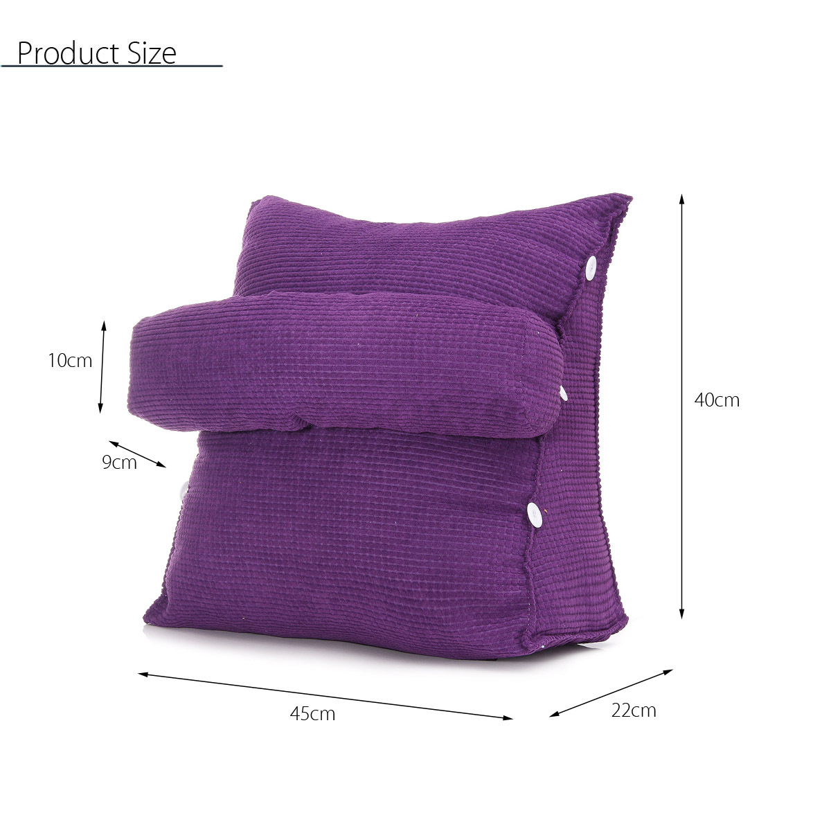 Adjustable Back Wedge Cushion Pillow Sofa Bed Office Chair