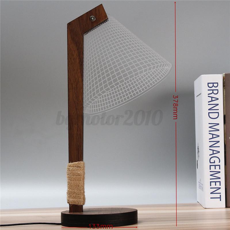 3D-LED-Lampe-de-Lecture-Dimmable-Bois-Veilleuse-Table-Chevet-Bureau-Blanc-Chaud