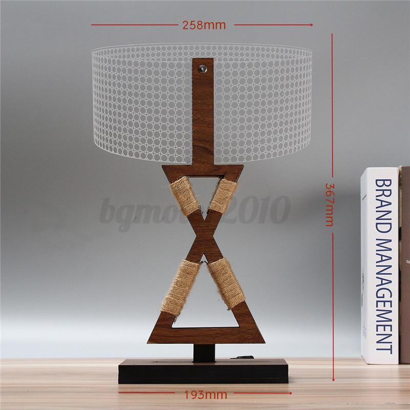 3D-LED-Lampe-de-Lecture-Dimmable-Bois-Veilleuse-Table-Chevet-Bureau-Blanc-Chaud miniature 12