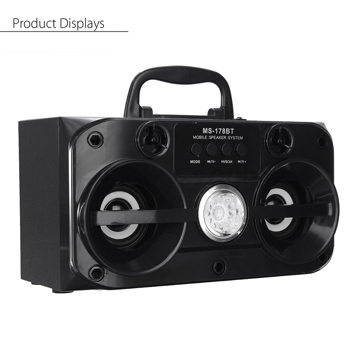 Led portable bluetooth wireless speaker outdoor stereo for F d portable bluetooth speakers