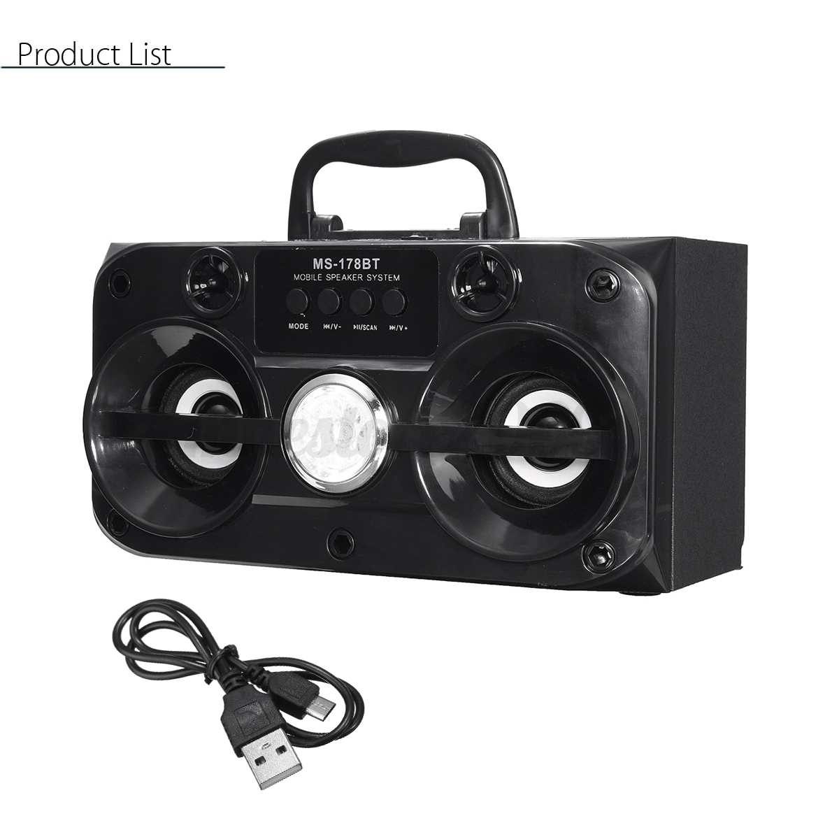 led portable bluetooth wireless speaker outdoor stereo. Black Bedroom Furniture Sets. Home Design Ideas