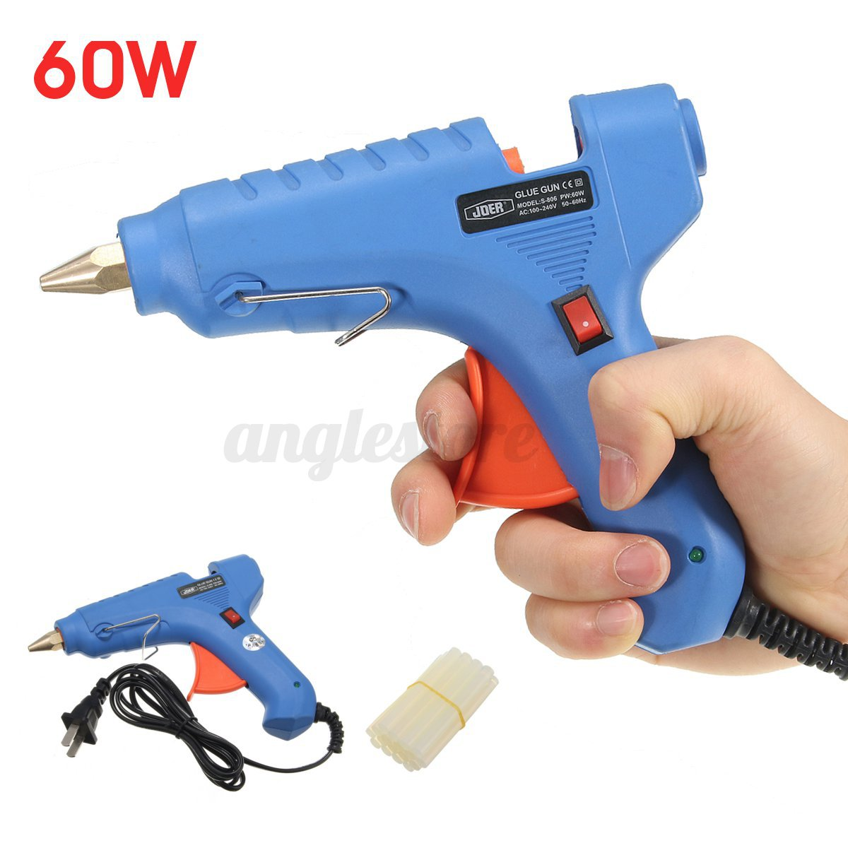 60w professional electric heating hot melt glue gun craft for Hot glue guns for crafts