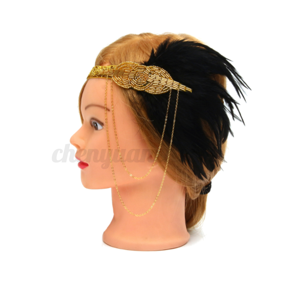 how to make flapper headband with feather