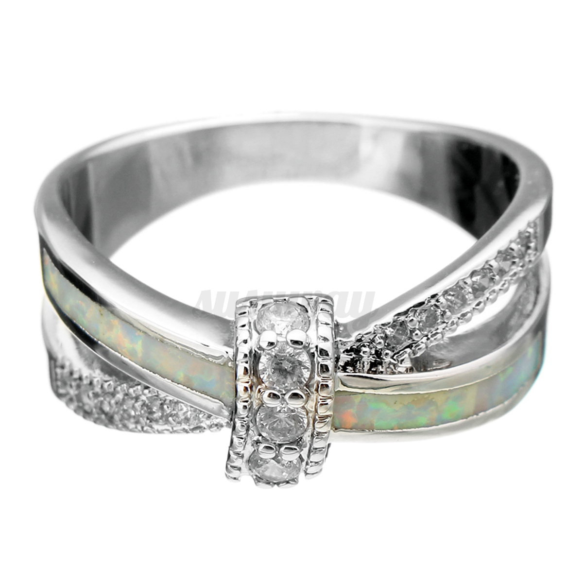 australian opal wedding engagement bangle ring silver