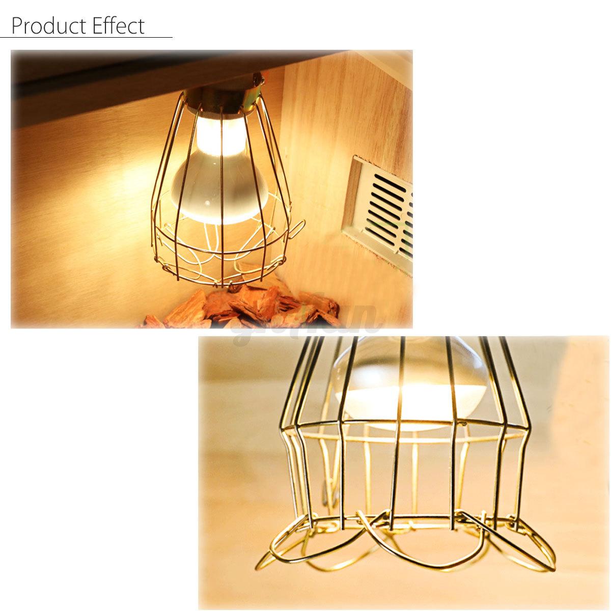 Reptile Heat Lamp Shade Cover Anti Scald Heating Light