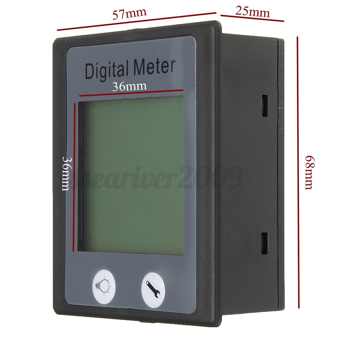 Digital Energy Meter : Ac v a digital voltage power energy meter ammeter