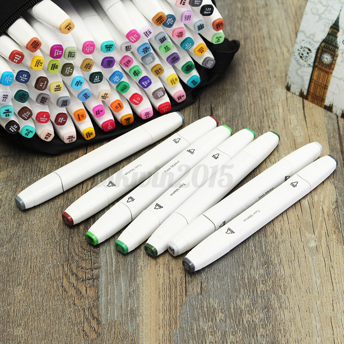 80-Colors-Kit-Set-Art-Manga-Sketch-Double-Headed-Tip-Marker-Pen-Watercolor-New
