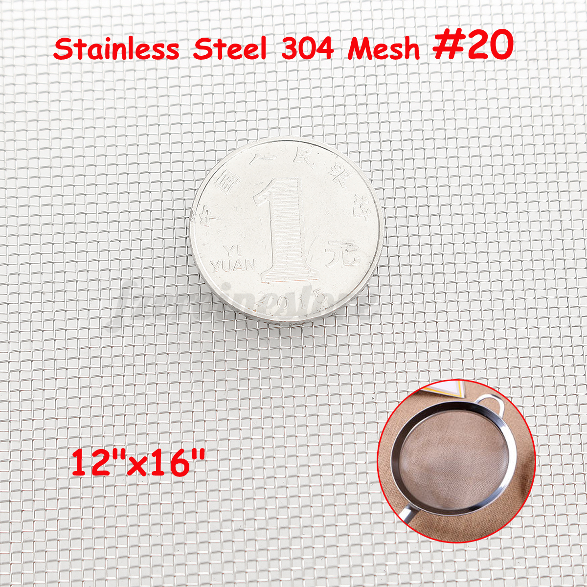 Mega Mesh Listing 304 Wire Cloth Screen Stainless Steel