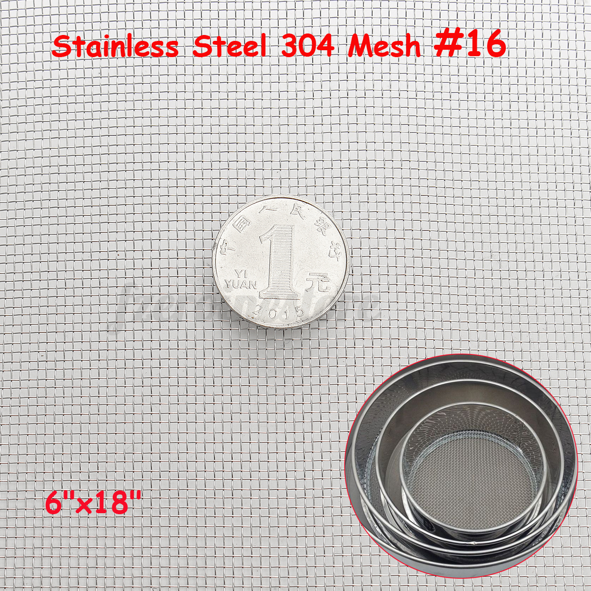 304 Wire Stainless Steel Cloth Screen Filter Woven Wire Mesh MEGA ...