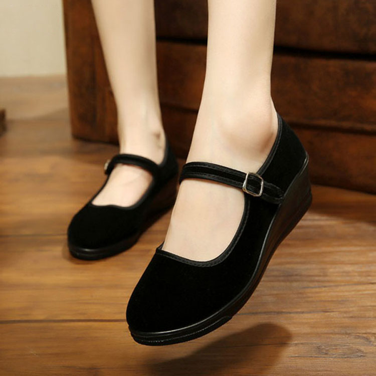 2018 NEW Womens Mid Block Heel Lady Black Mary Jane Office ...