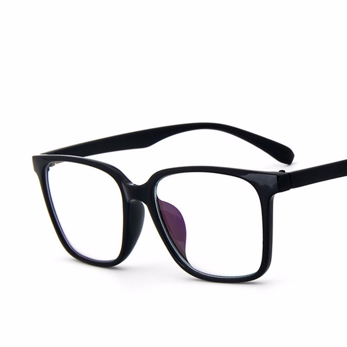 Fashion Men Women Square Full Frame Clear Lens Glasses PC Eyewear ...
