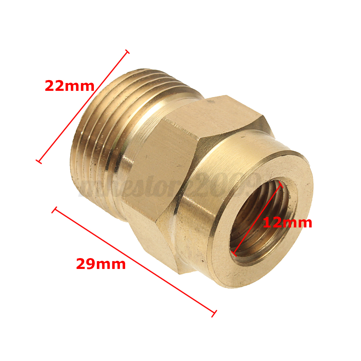 pressure washer foam lance adapter coupler 1 4 f   m22
