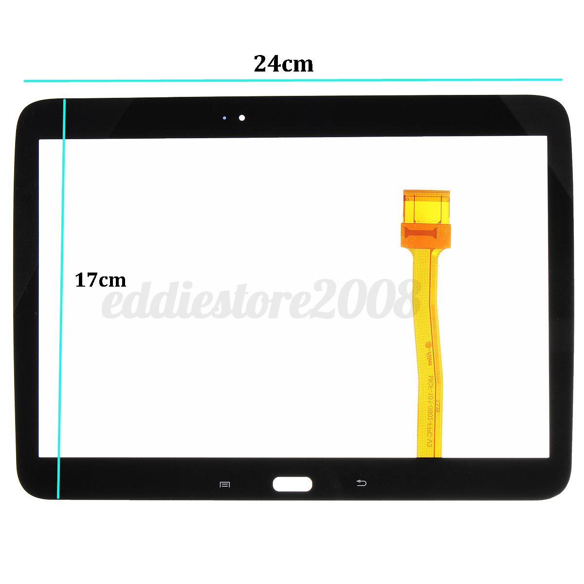 16 type touch screen digitizer glass lens replacement part for 16 pane window
