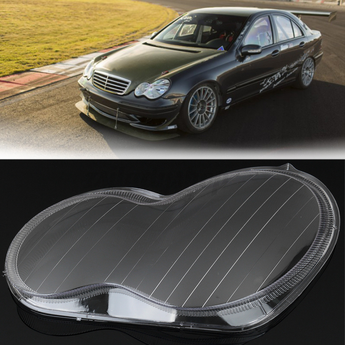Left headlight lens plastic shell cover for mercedes for for Mercedes benz headlight lens