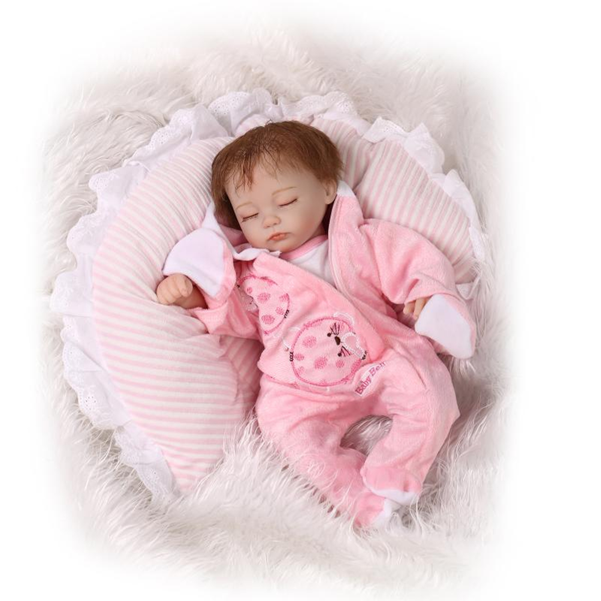 "18/22"" Realistic Newborn Baby Doll Reborn Soft Girl Boy ..."