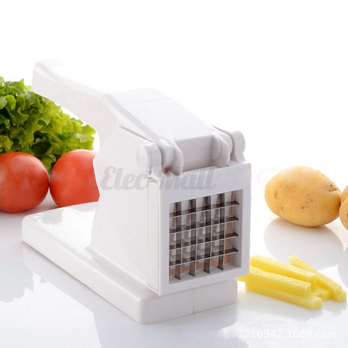 stainless steel french fry potato cutter maker slicer chopper dicer 2 blades - Vegetable Dicer