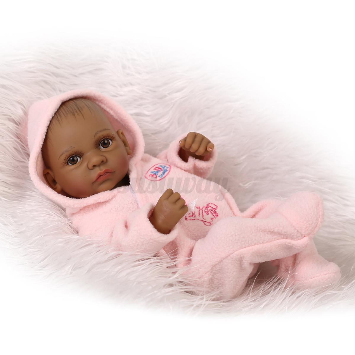 silicone r aliste reborn b b poup e nouveau n fille gar on baby doll jouet ebay. Black Bedroom Furniture Sets. Home Design Ideas