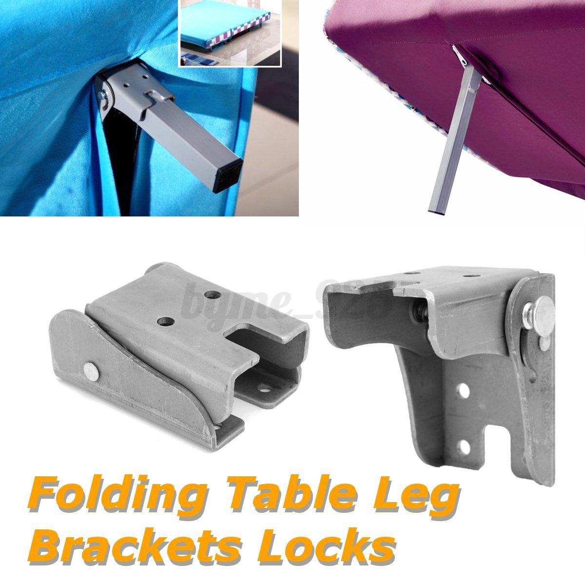Details About 1 2 4pcs Folding Extension Table Leg Bracket Ing Self Lock Foldable Feet Diy