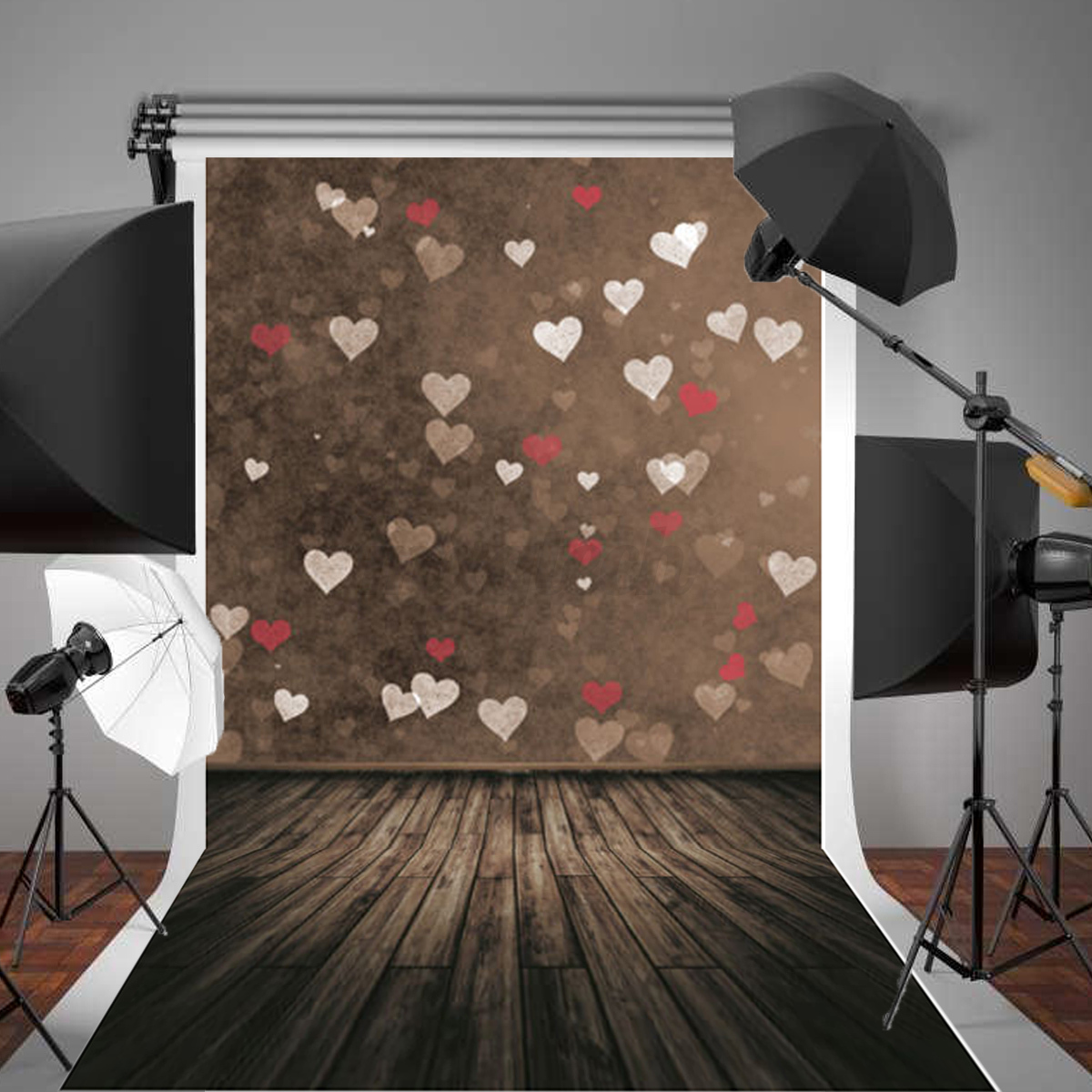 New box truck heartwood manufacturing - Image Is Loading 5x7ft Children Kids Love Heart Wood Photography Background