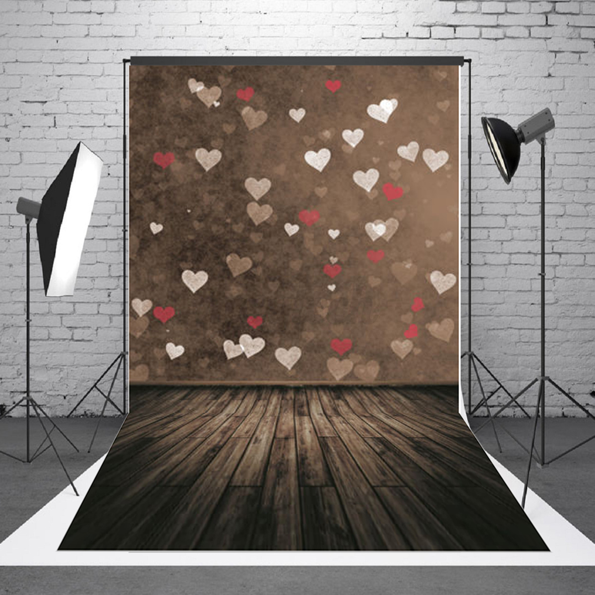 New box truck heartwood manufacturing - 5x7ft Children Kids Love Heart Wood Photography Background