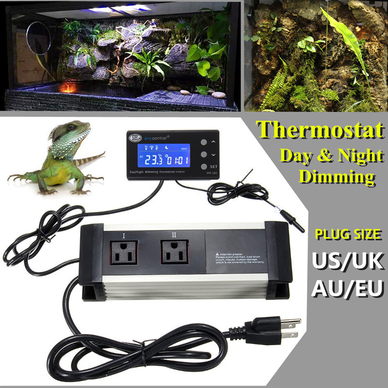 New Digital Reptile Thermostat Day Amp Night Dimming Timer