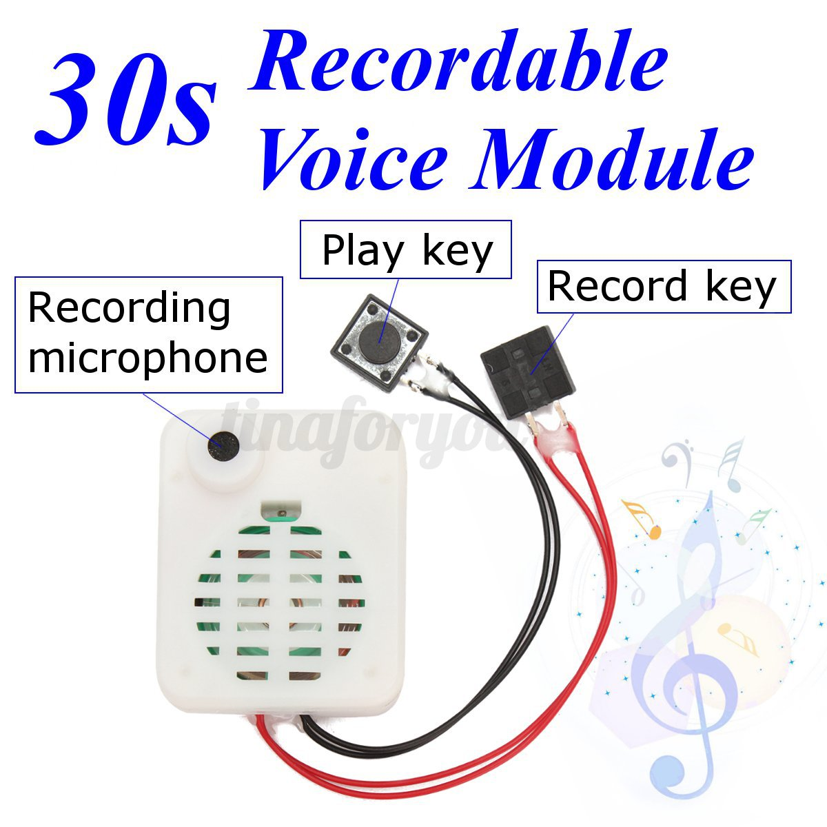 0b535f2de76 30s Button Sound Recordable Voice Sound Module Music Box for Plush Doll Toy