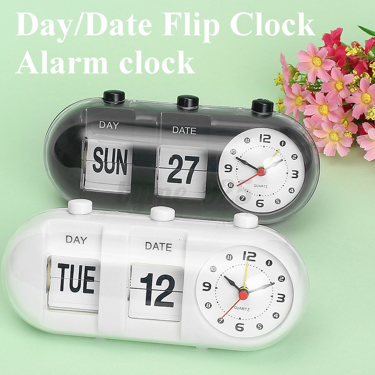 Desk alarm clock best home design 2018 White flip clock