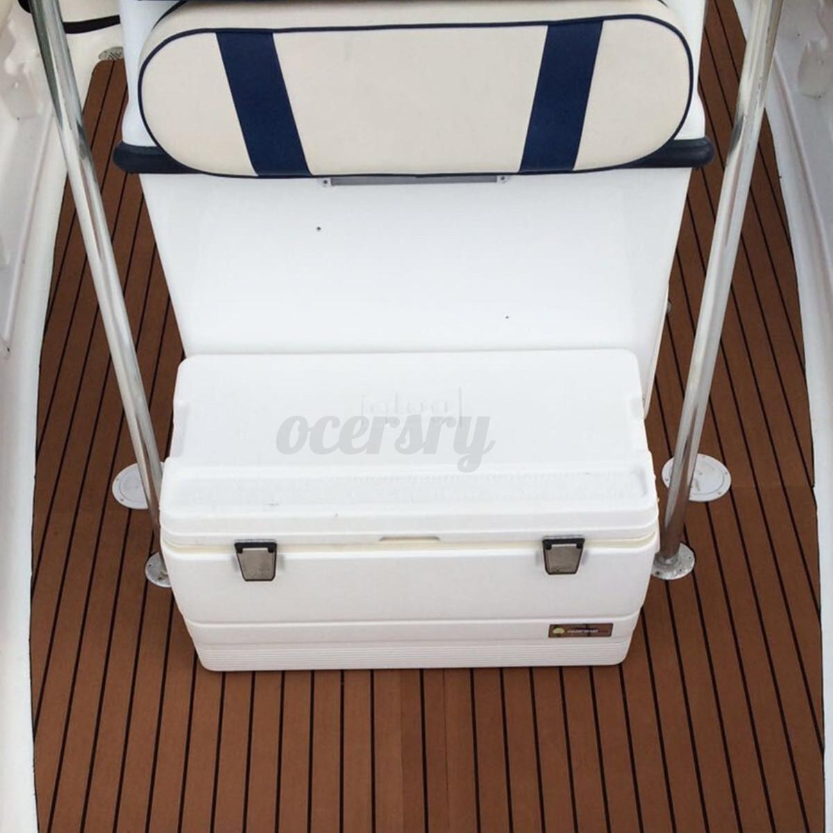 EVA-Bodenbelag-2400x1200x6mm-Fussboden-Teak-Flooring-Dunkelbraun-fuer-Yacht-Boot Indexbild 4