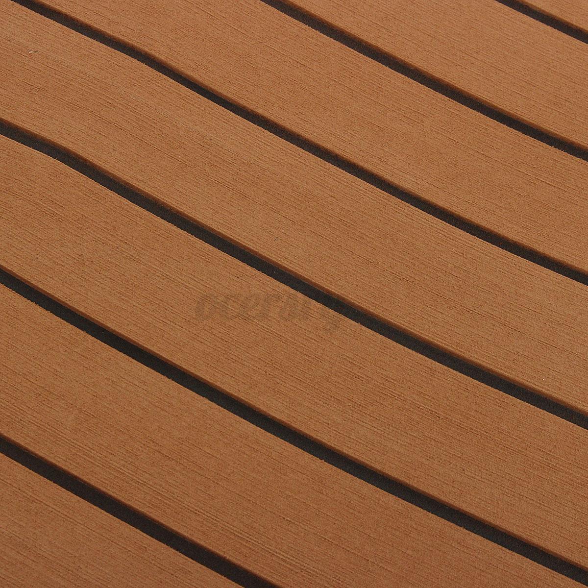EVA-Bodenbelag-2400x1200x6mm-Fussboden-Teak-Flooring-Dunkelbraun-fuer-Yacht-Boot Indexbild 8