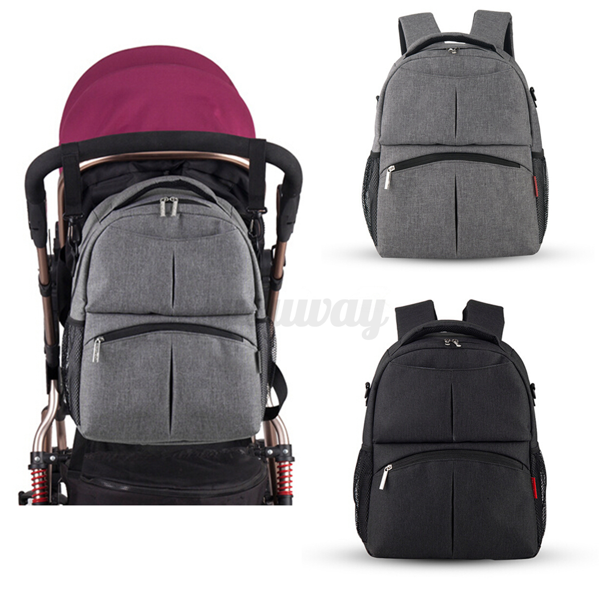 multifunctional baby diaper backpack mummy bag nappy changing travel backpack au ebay. Black Bedroom Furniture Sets. Home Design Ideas