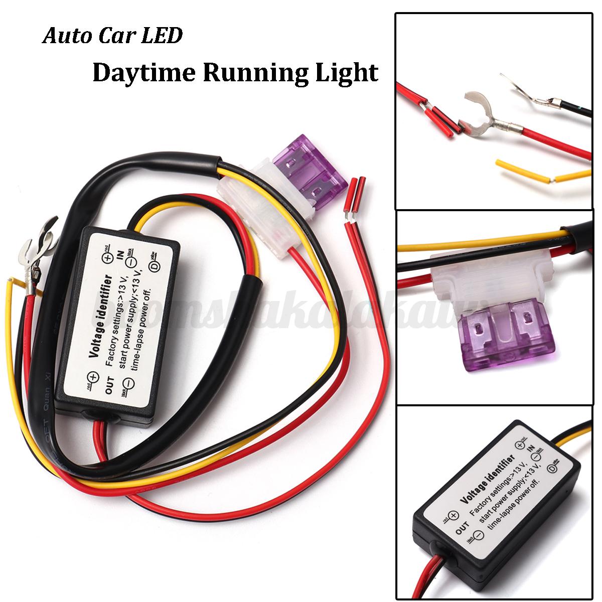 Image is loading 12v car auto led daytime running light drl
