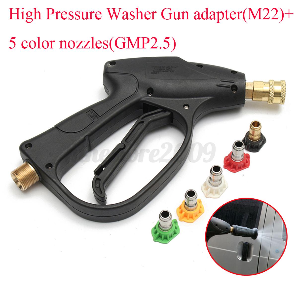 Adjustable Pressure Washer Spray Gun Lance Extension Rod w// Nozzle For Decker
