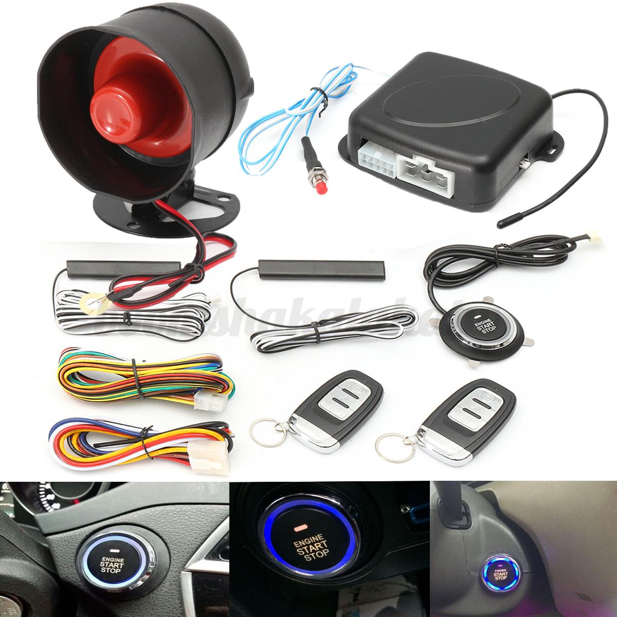 Keyless Entry Car Push Start Button Rfid Lock Engine: Keyless Entry Car Push Start Button RFID Lock Engine