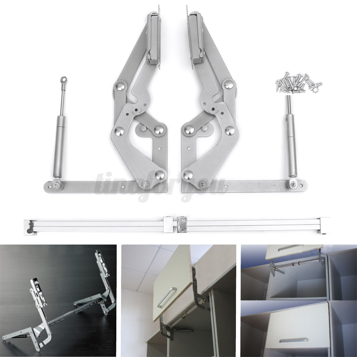 Lift Up Kitchen Cabinet Hinges: 2 Cabinet Door Vertical Swing Lift Up Stay Pneumatic Arm