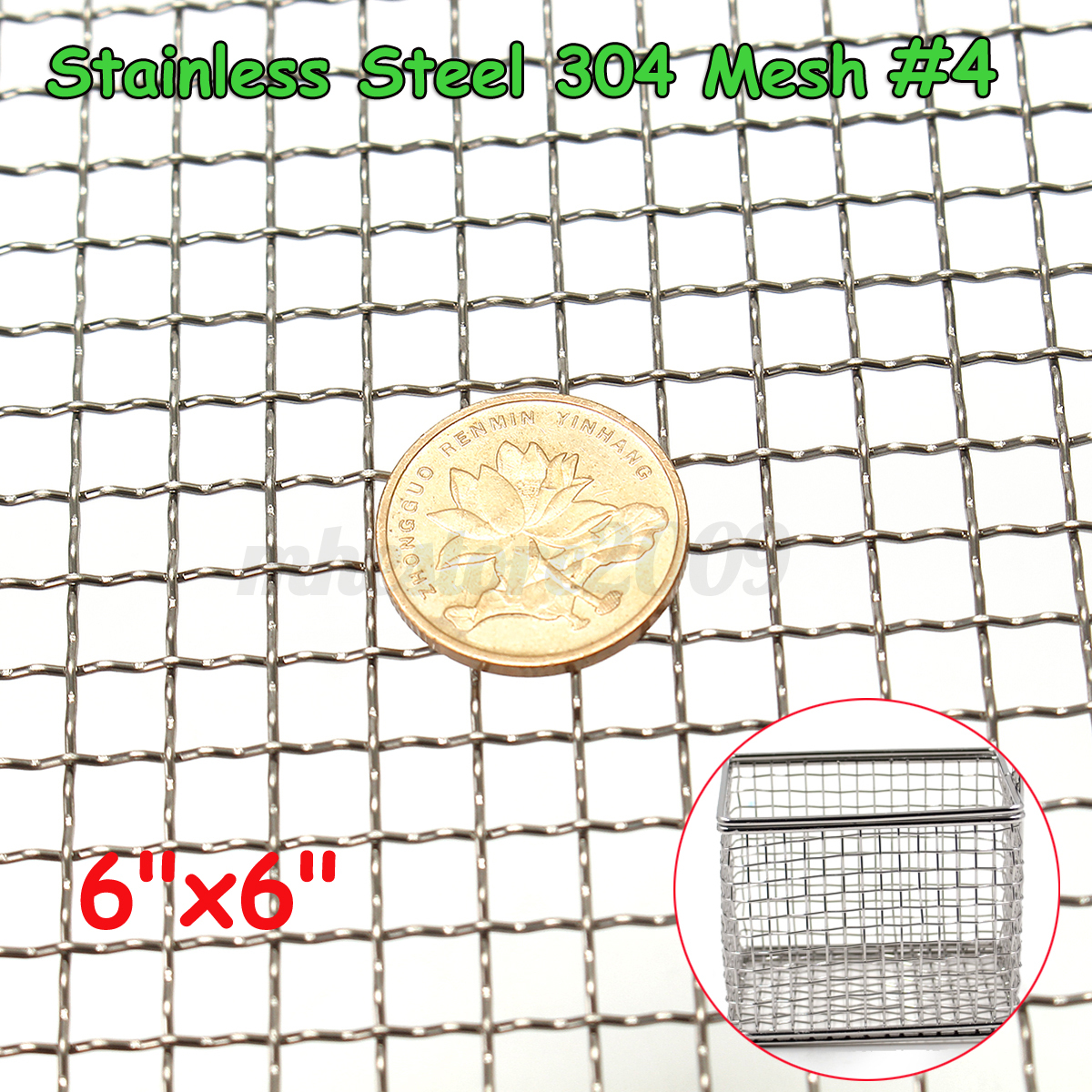 """Stainless Steel 304 Mesh #10 .025 Wire Cloth Screen 6/""""x12/"""""""